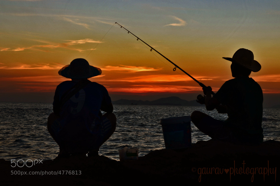 Photograph Fishing at Sunset {Color} by Gaurav Arora on 500px