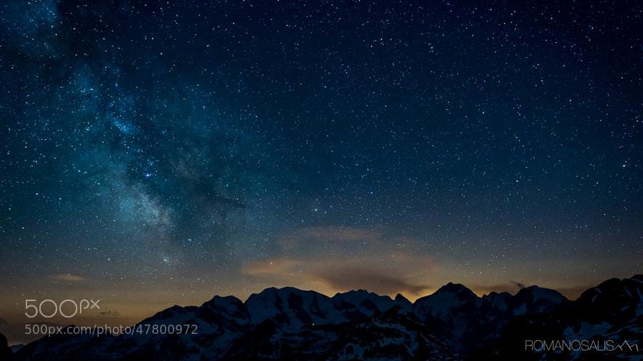 Milky Way above Bernina range