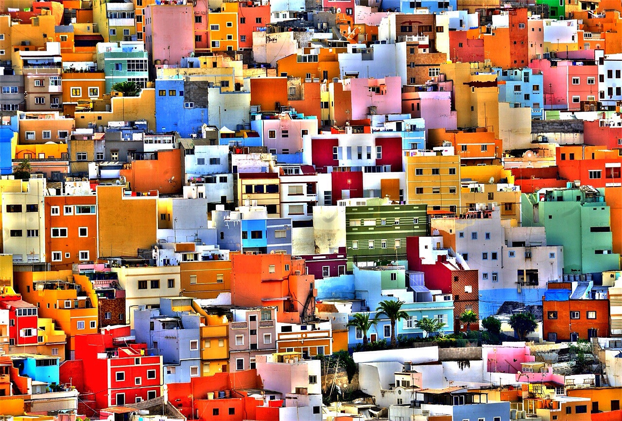 Photograph Painted houses by Tony Hernández on 500px
