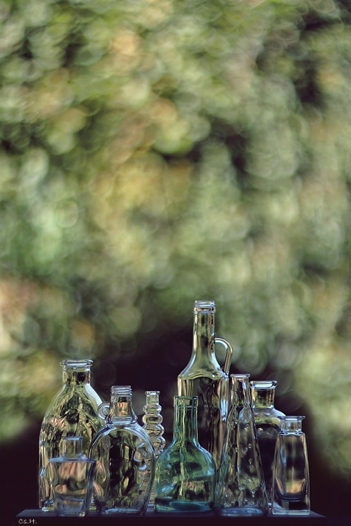 Photograph Bottles and Bokeh by Cs. H. on 500px