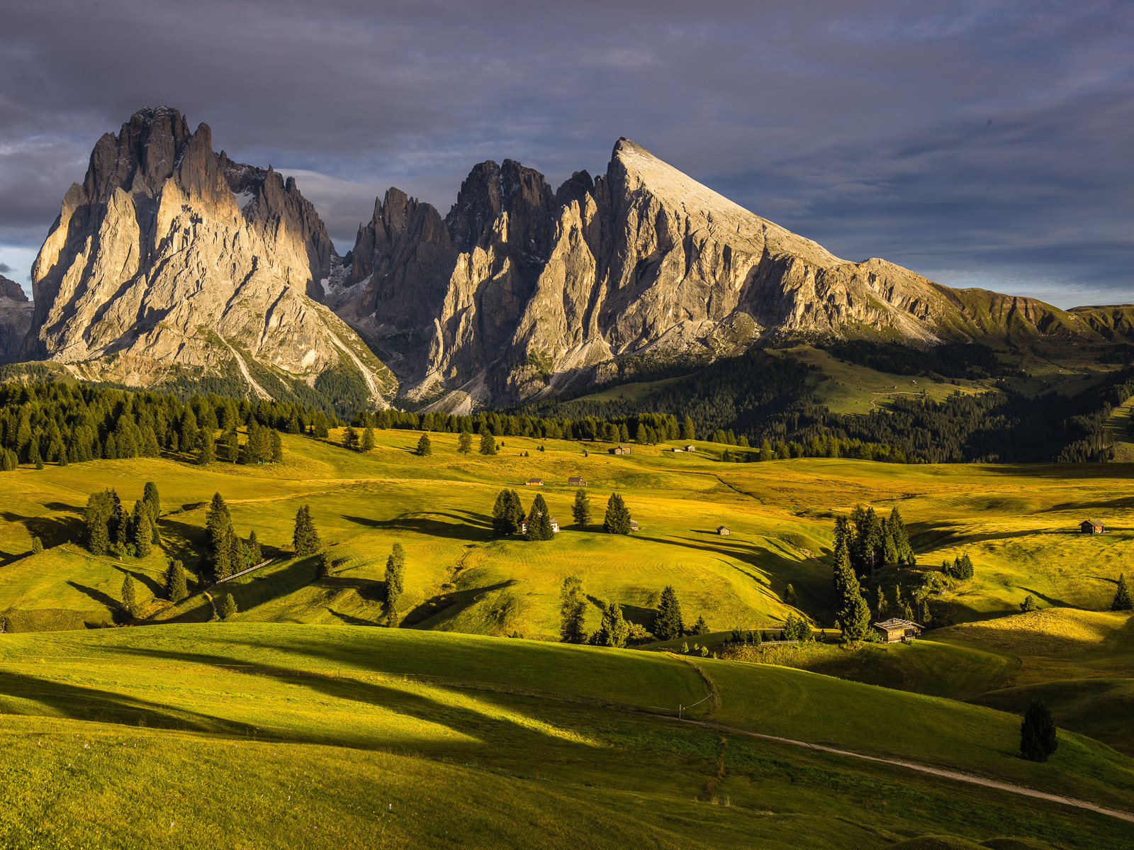Photograph Shadows from setting sun over Alpe di Siusi by Hans Kruse on 500px