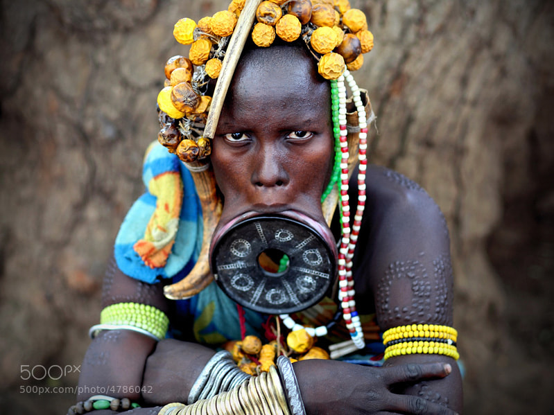 Photograph Mursi woman by Rafal Ziejewski on 500px
