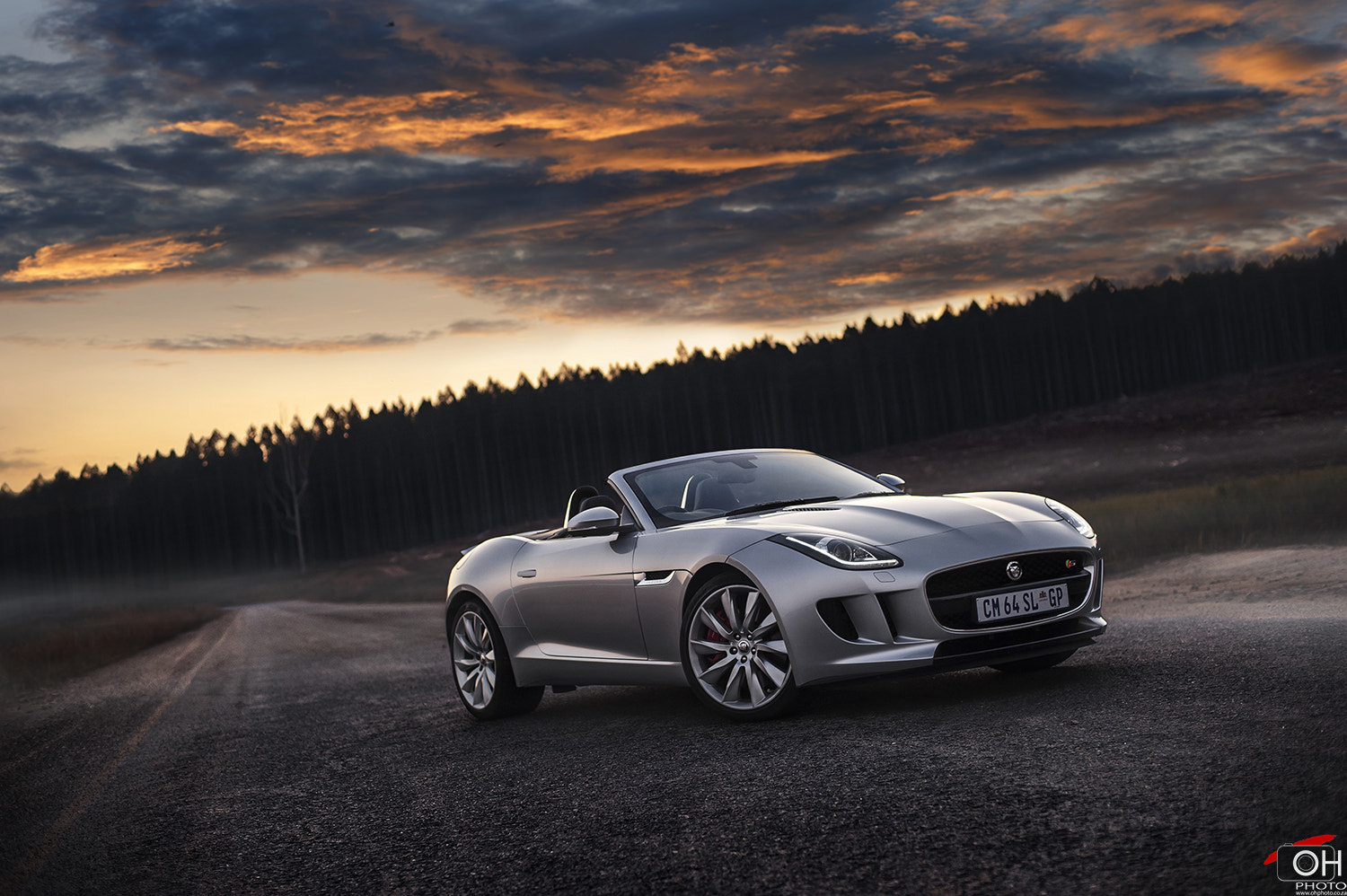 Photograph Jaguar F-Type V6S 'Sunset' by Oliver H on 500px