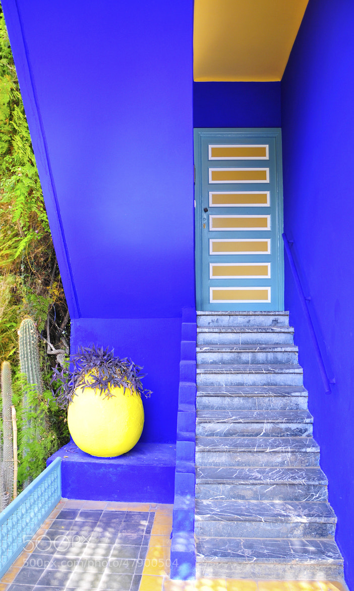 Photograph Majorelle Stairs by Imad Ammor on 500px