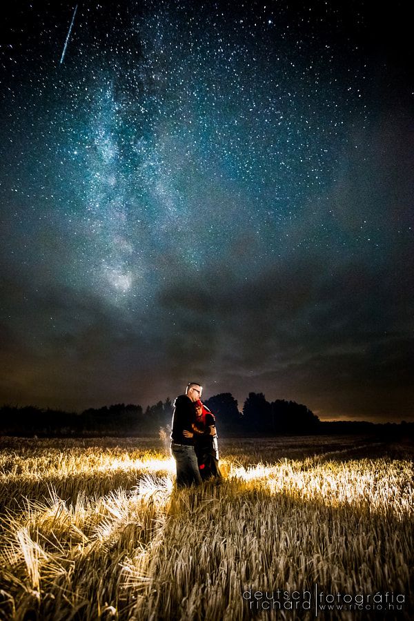 Photograph Kinga & Jojo with a Perseid by Deutsch Richárd on 500px