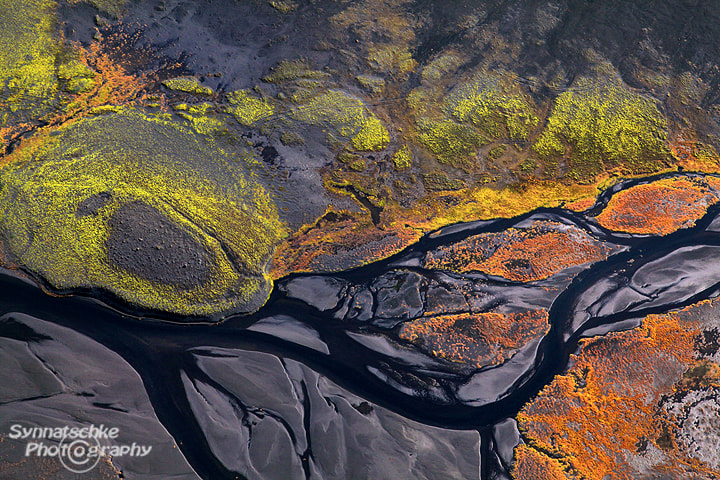 Photograph Aerial Picture - Fall Colors in Iceland by Isabel Synnatschke on 500px