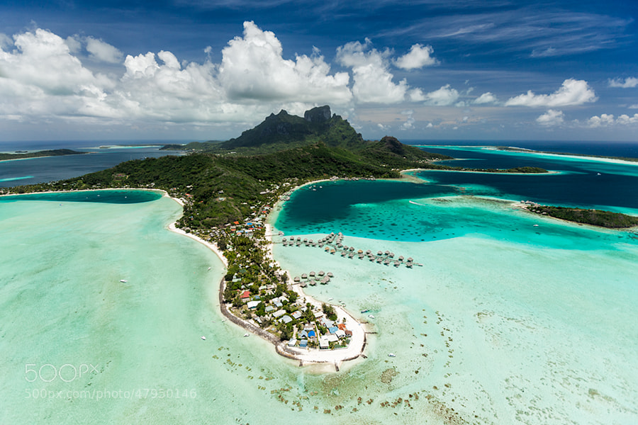 Photograph Bora Bora aerial by lenticular travel on 500px