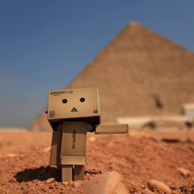 Danbo at the Pyramids