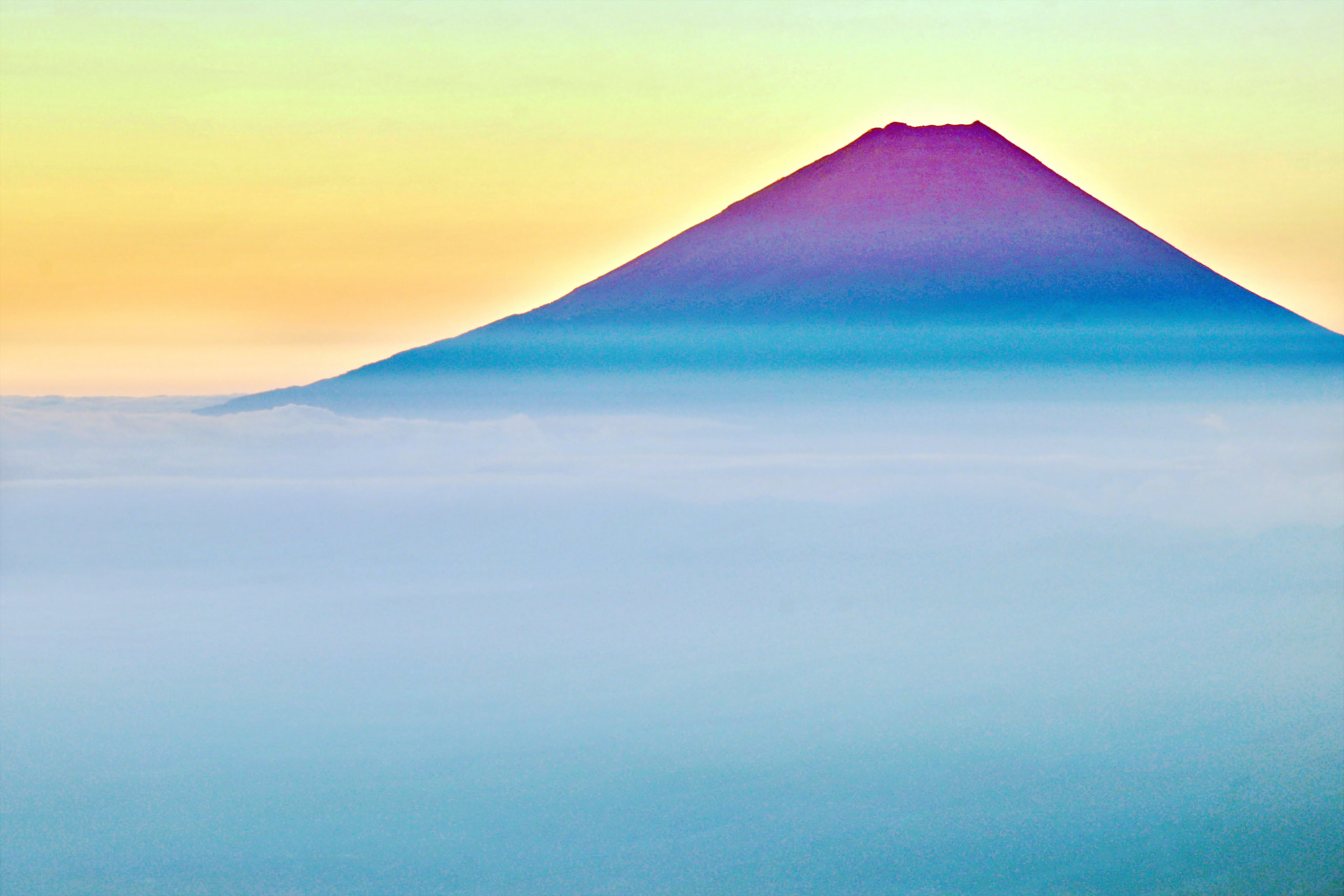 Photograph Red Mt.Fuji, the attire miraculous! by KEN OHSAWA on 500px