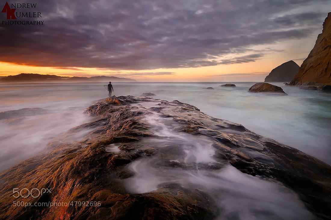 Photograph Sunrise Surfer by Andrew Kumler on 500px