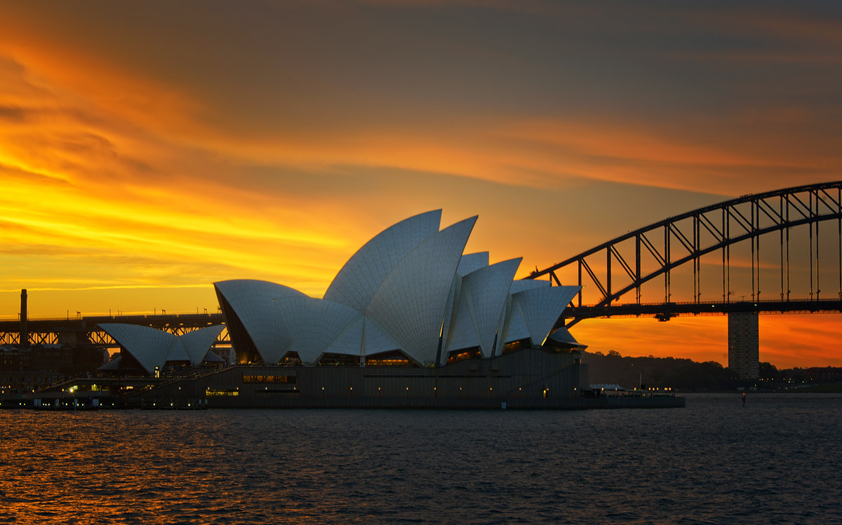 Photograph Sydney Sunset by Paparwin Tanupatarachai on 500px