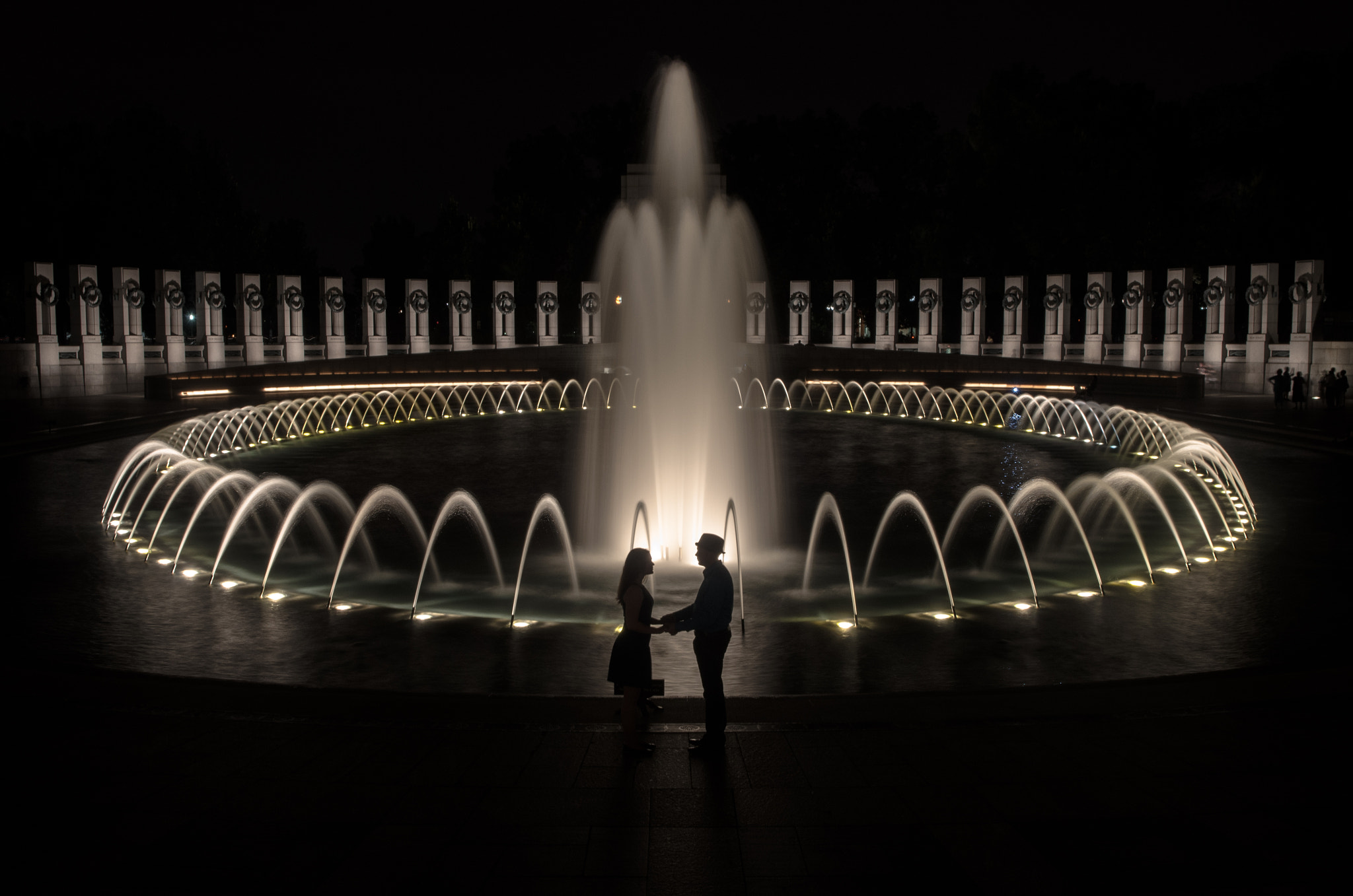 Photograph Love at the WWII Memorial by Jimmy Daly on 500px