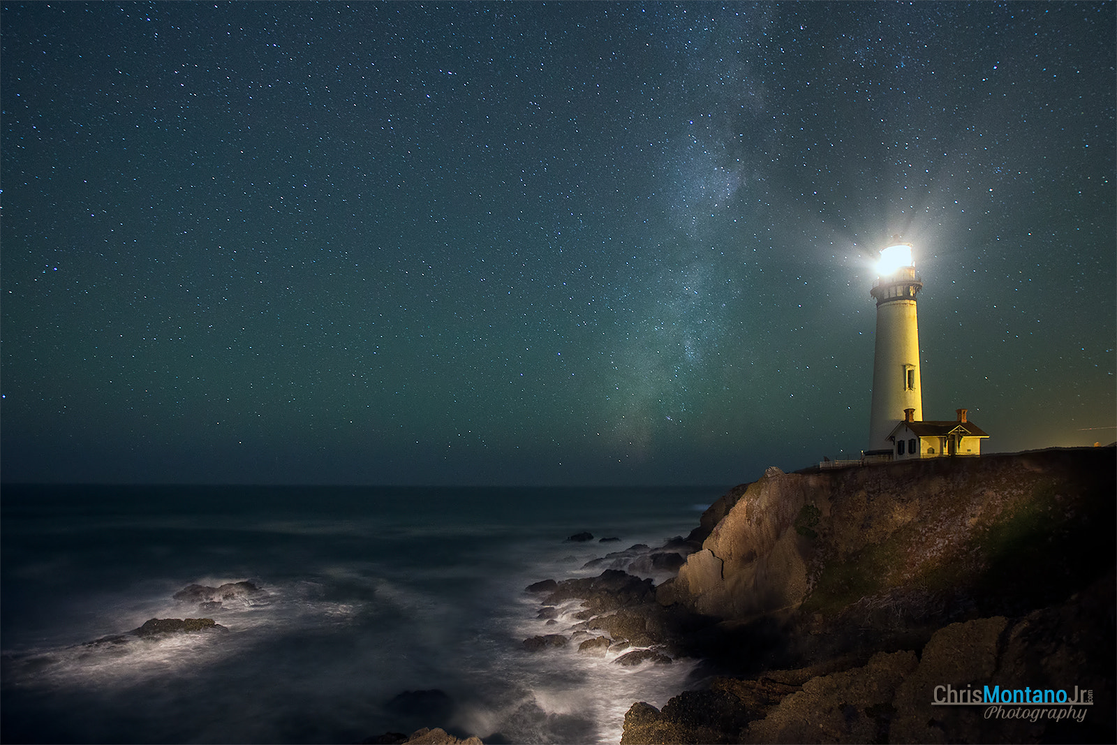Photograph Pigeon Point Lighthouse & Milky Way by Chris Montano Jr. on 500px
