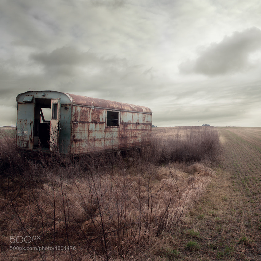 Photograph field with old caravan by Ondrej Cervinka on 500px