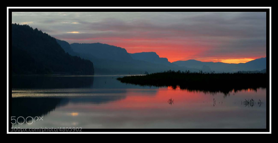 Sunrise, Columbia River Gorge, Oregon