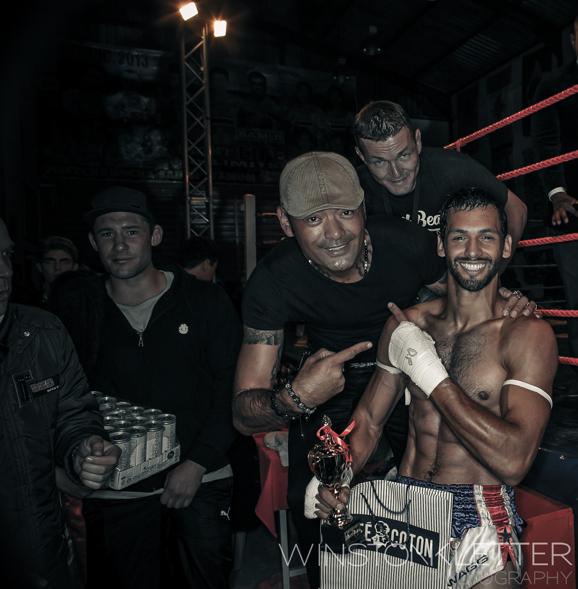 Photograph World champ Sifu Chong &Coaches Winner in his 1st pro Muy Thai fight by Winston Kletter on 500px