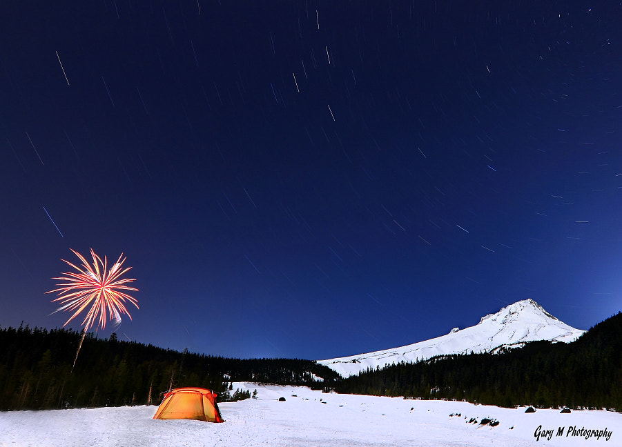 Photograph Star Trails and Fireworks by Gary Meyers on 500px