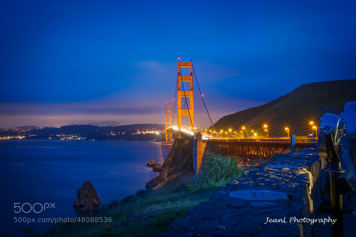 Photograph Bridge in the blue night. by Jean Li on 500px