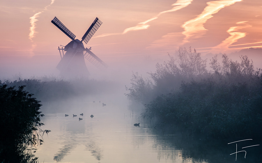 Photograph Windmill covered in fog by Finn Gonschior on 500px