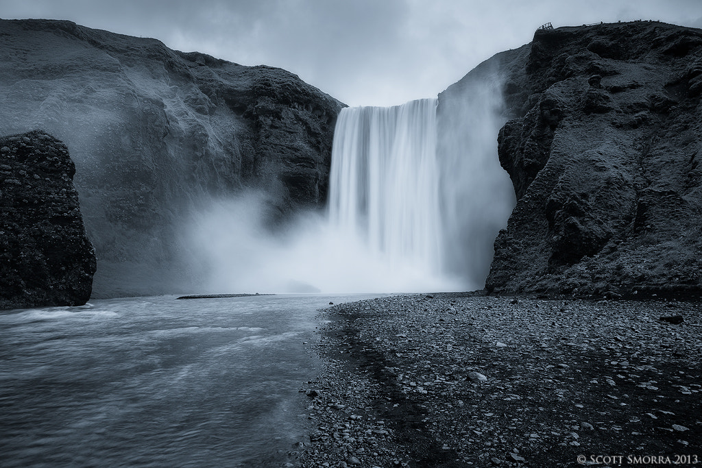 Photograph Skógafoss B/W by Scott  Smorra on 500px
