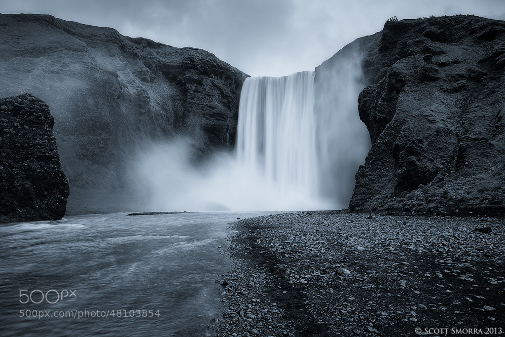 Photograph Skógafoss B/W by Scott  Smorra on 500px