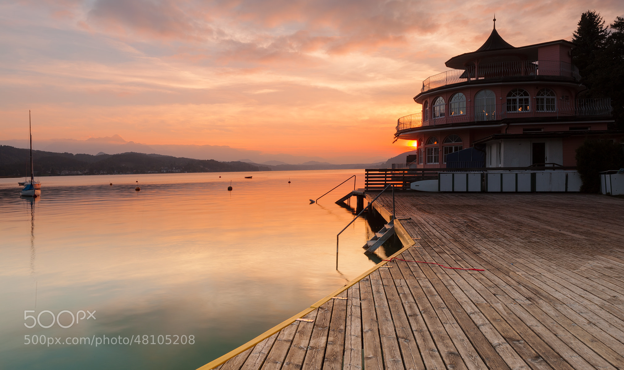 Photograph Wörthersee sunset by Reinhold Samonigg on 500px