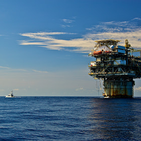 Offshore 100+ miles in the Gulf of Mexico off Texas. You can feel pretty small out there.
