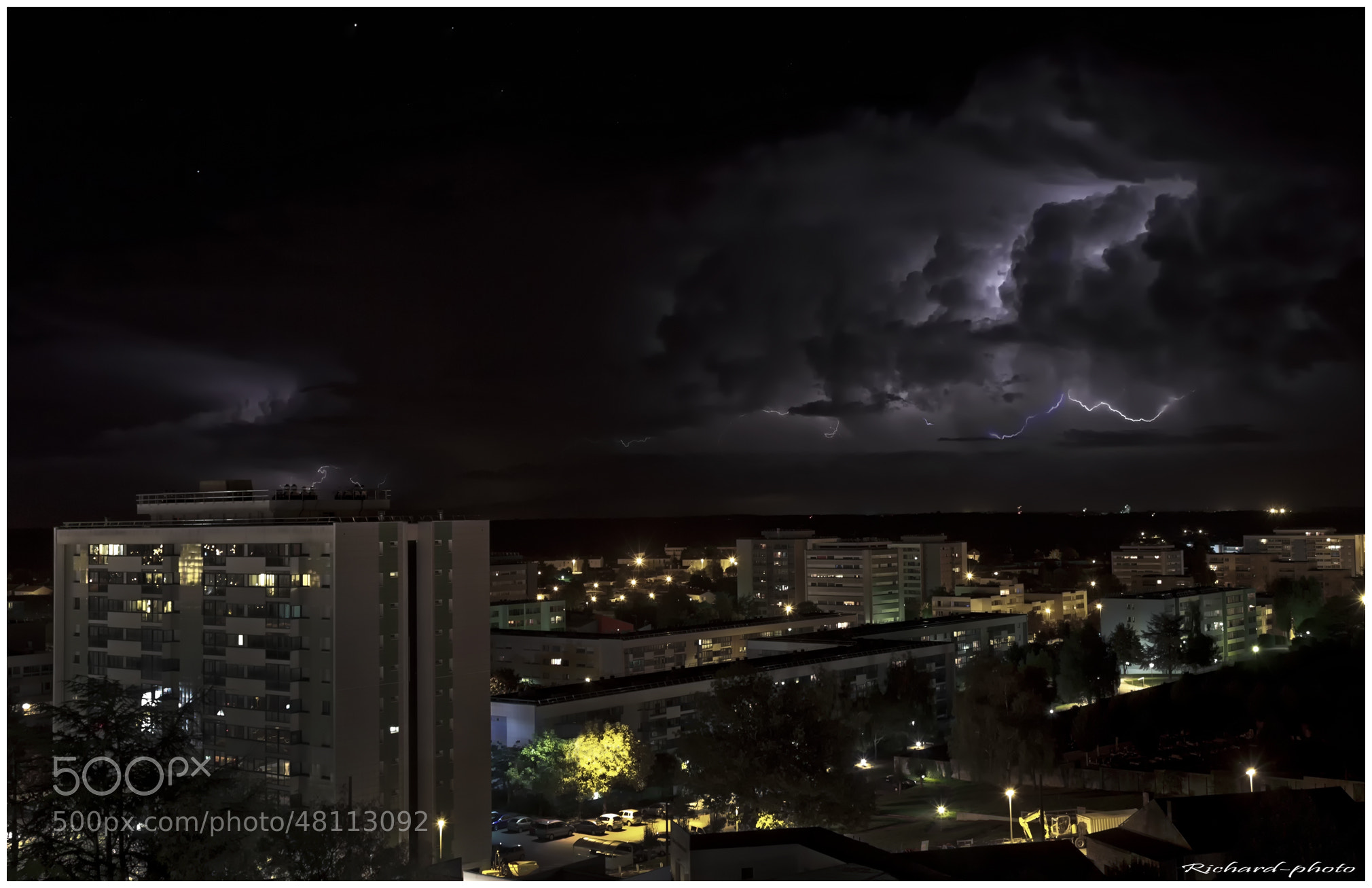 Photograph Orage sur la Roche sur Yon by Richard Echasseriau on 500px