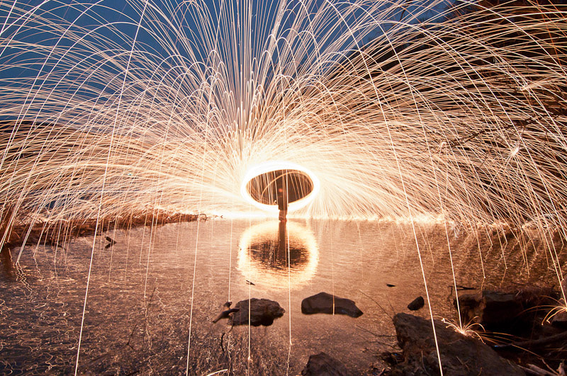 Photograph Light Painting IV - sparks galore by Bill Wells on 500px