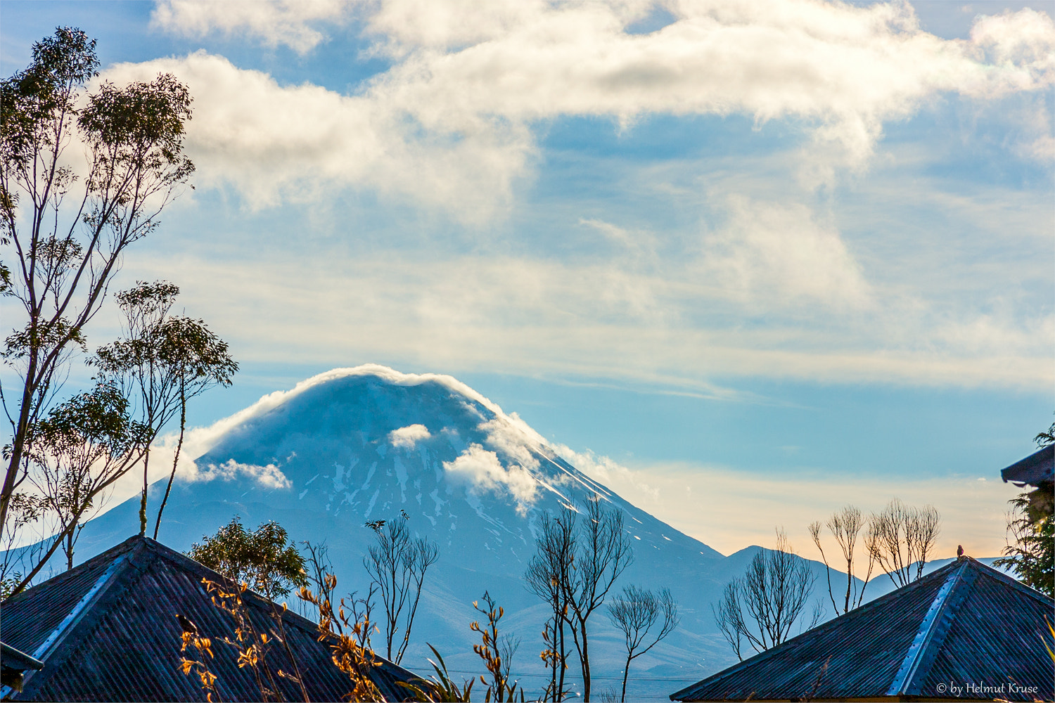 Photograph Mt. Tongariro in the Clouds New Zealand by Helmut Kruse on 500px