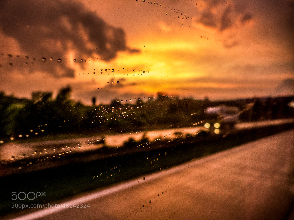 Photograph Sunset from bus. by Michal Jenčo on 500px