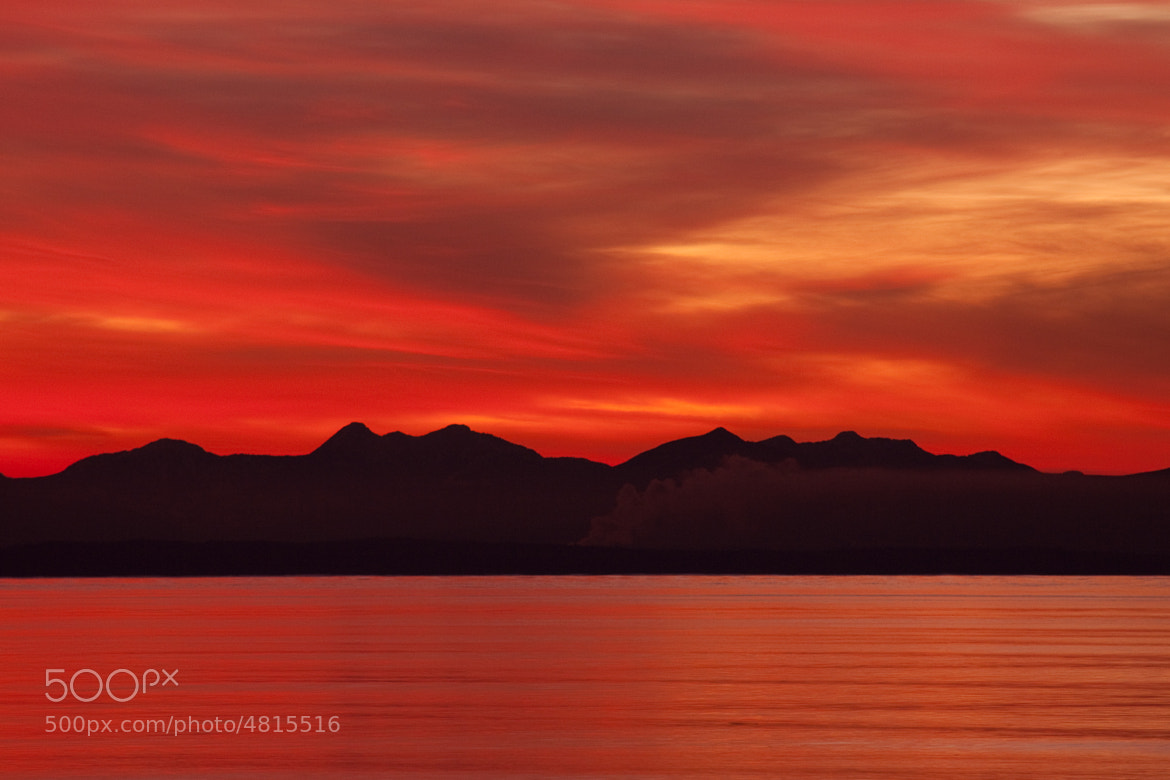Photograph Red sky at night by Tristan Rayner on 500px