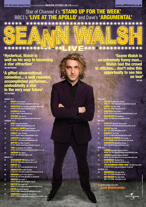 Photograph seann walsh > tour poster > february 2012 by Andy Hollingworth on 500px
