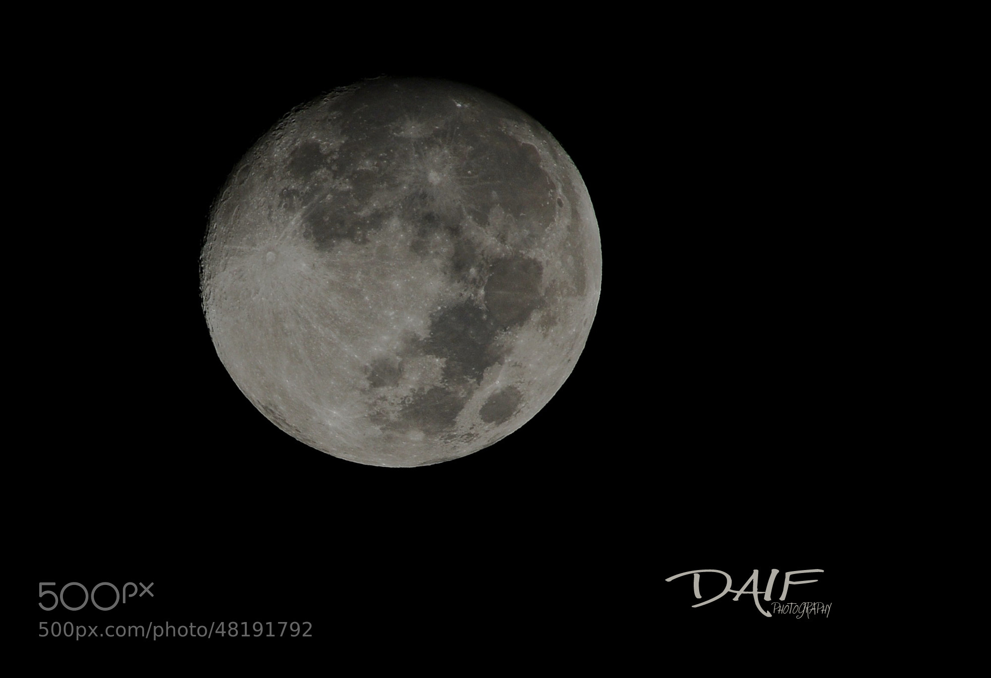 Photograph full moon by Daifallah Mansour on 500px