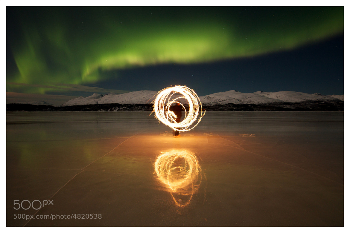 Photograph Northern Lights - On the ice by Daniel Sakariassen on 500px