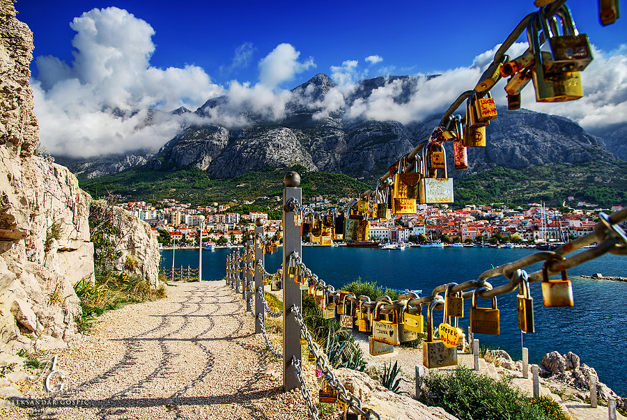 Padlocks of love left to the mighty Biokovo mountain for safekeeping, as a pledge for the secure and long-term relationship