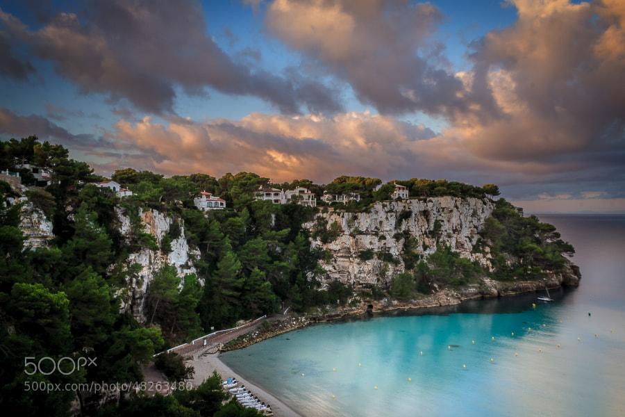 Villas on a clifftop