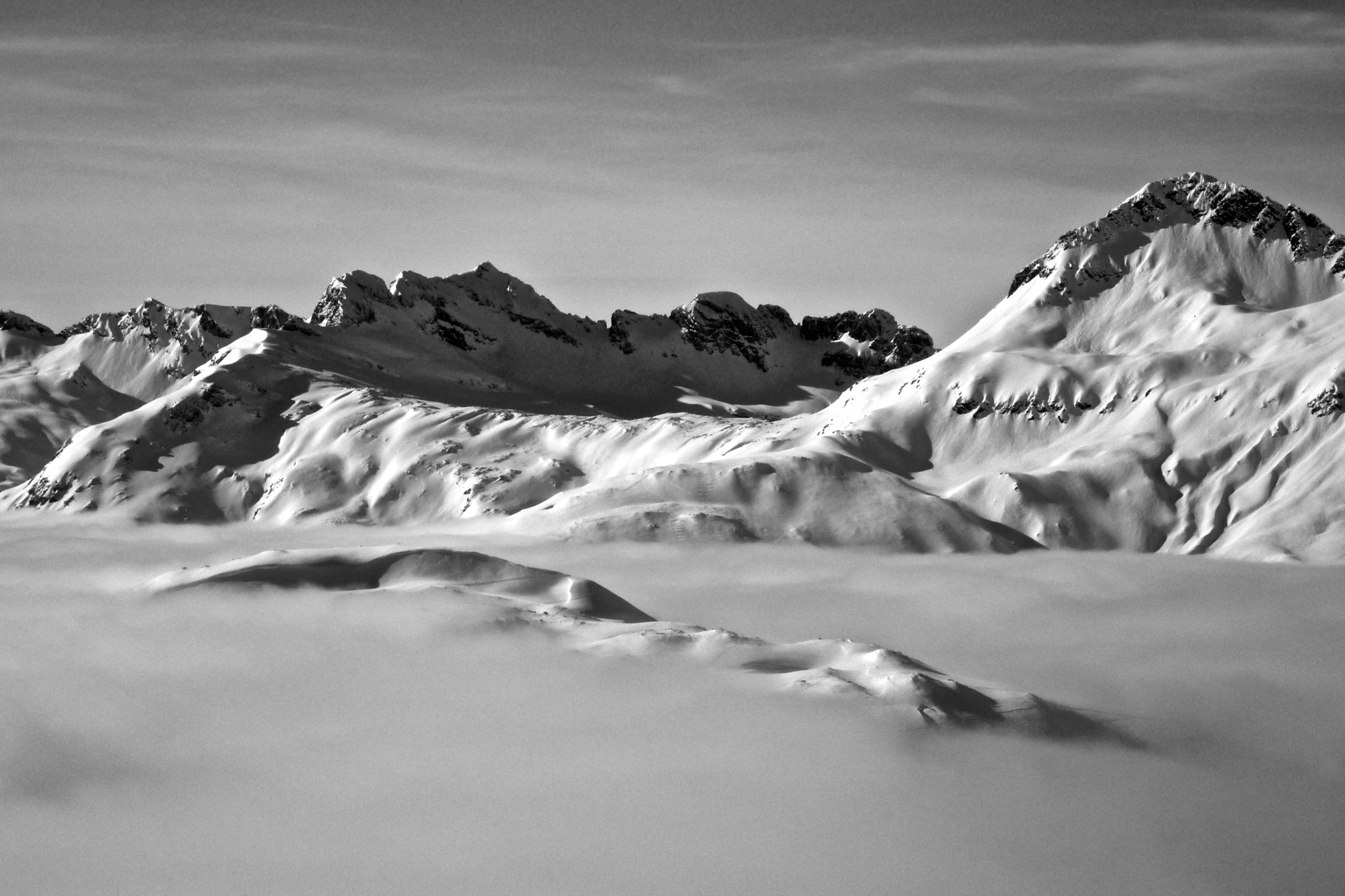 Photograph Arlberg 9 B&W by Benjamin Wild on 500px