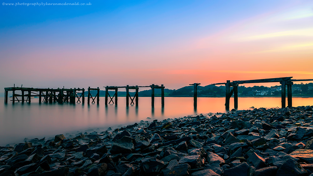 Photograph Sunset at the Old Pier by Karen McDonald on 500px