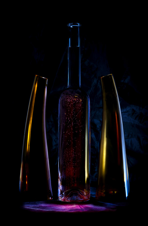 three bottles by Stefan Thaler on 500px.com