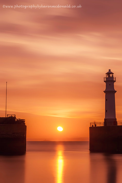 Photograph Newhaven Lighthouse Sunset by Karen McDonald on 500px