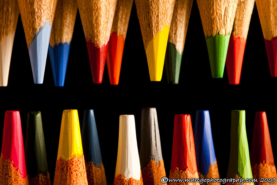"Join me on my <a href=""https://www.facebook.com/marcgcphotography"" rel=""nofollow"">Facebook Page</a>.  This painting pencil tips were arranged on a black background to emphasize their colors and shape. This photograph was created to use on children room decoration but I think you can use almost any place."