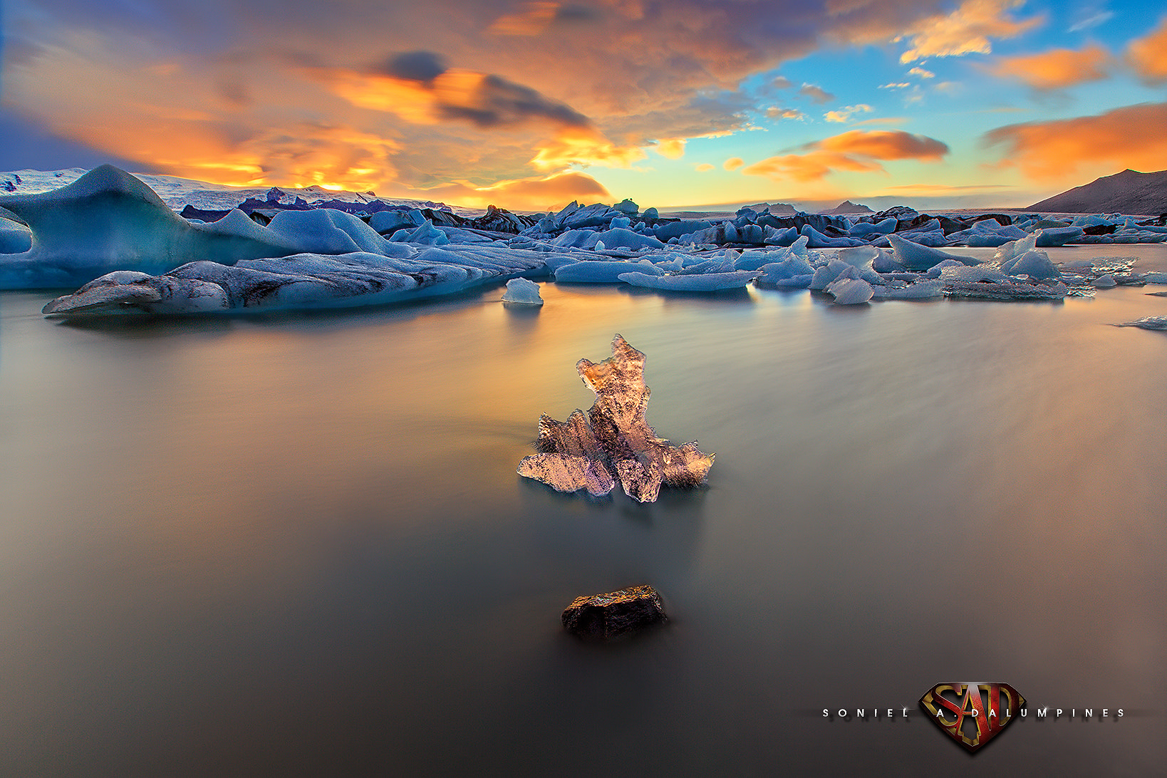 """Photograph """"the ONE"""" - Colors of Jokulsarlon Iceland by Soniel Dalumpines on 500px"""