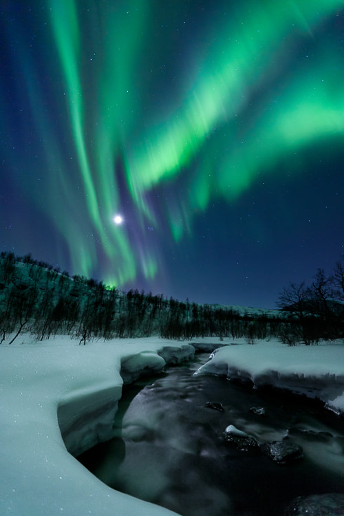 Photograph Aurora Moon by Arild Heitmann on 500px