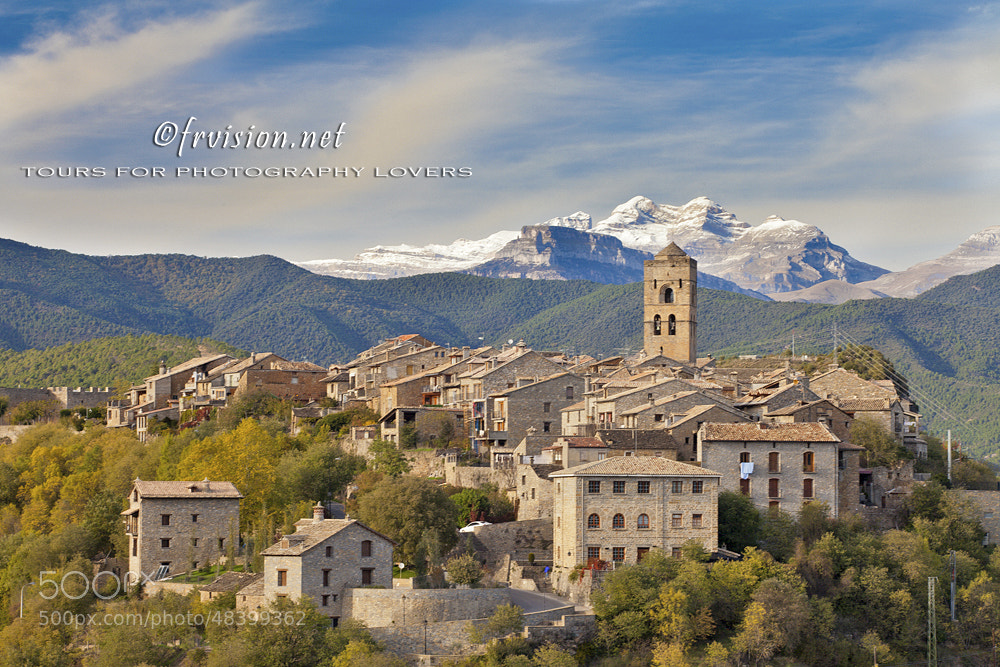 Photograph Ainsa village and N.P. of Ordesa, Huesca, Spain by Javier Fores on 500px