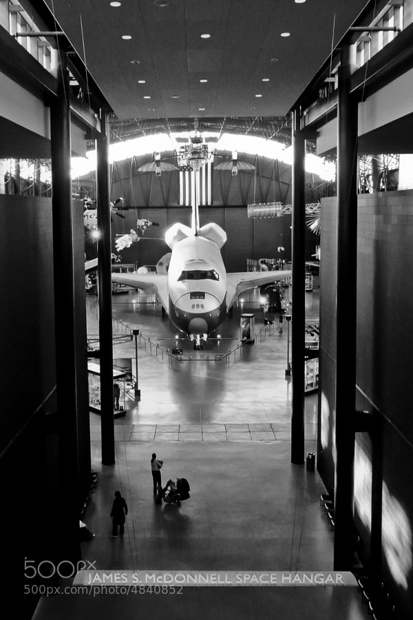 """Hallway to past glory"" OV-101 Space Shuttle Enterprise - 2009 - National Air and Space Museum Steven F. Udvar-Hazy Center"