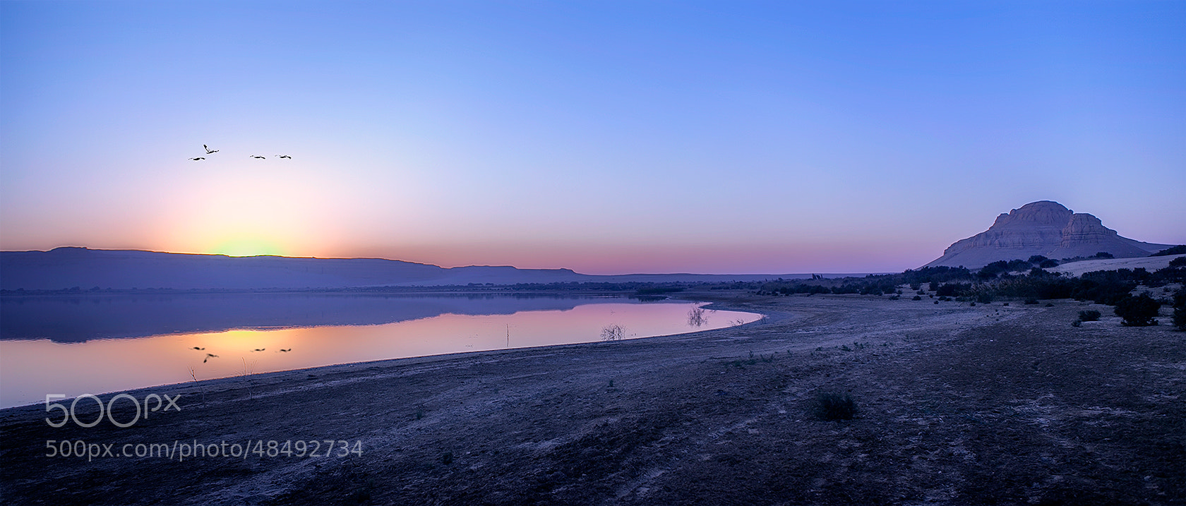 Photograph Sunset over the lake ... by Ahmed Abdulazim on 500px