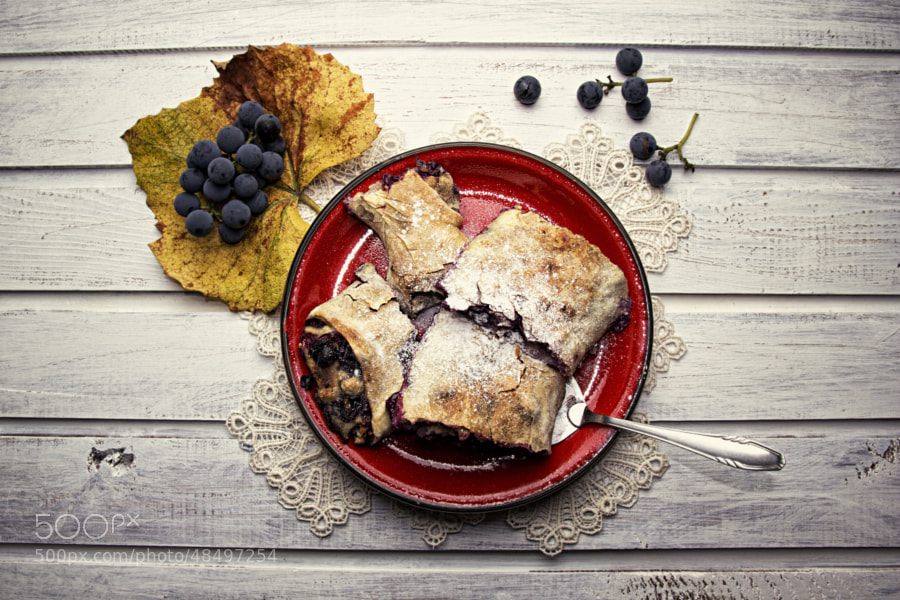 Photograph PIE with GRAPES by Samo Tanacek on 500px