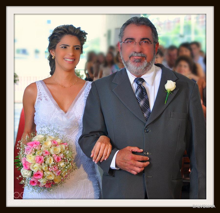 Eugênia and me, wedding.