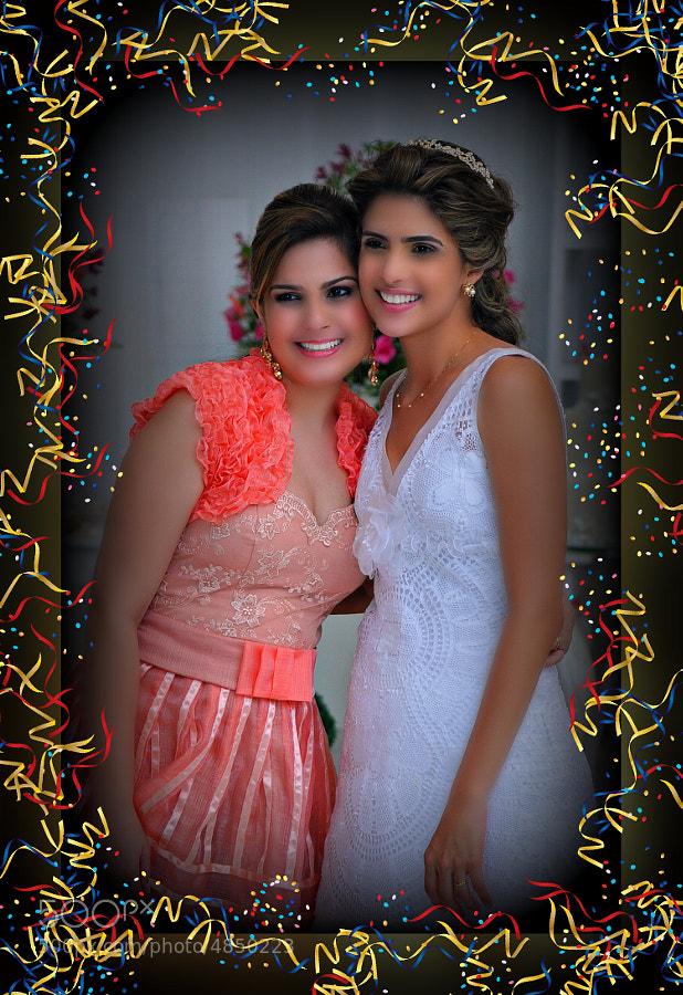 Eugênia and her best friend, wedding.